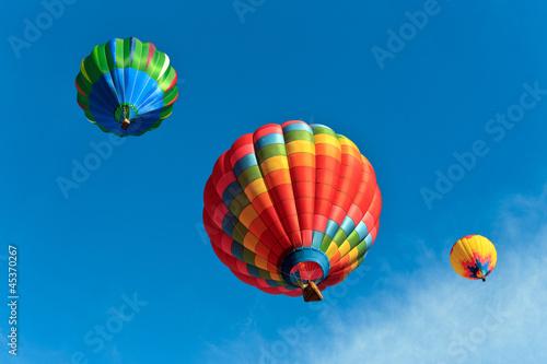 In de dag Ballon colorful hot air balloons