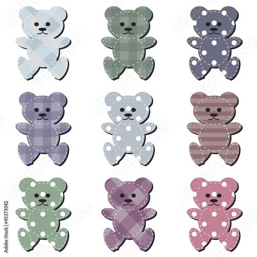 nice scrapbook teddy bears on white #45373042