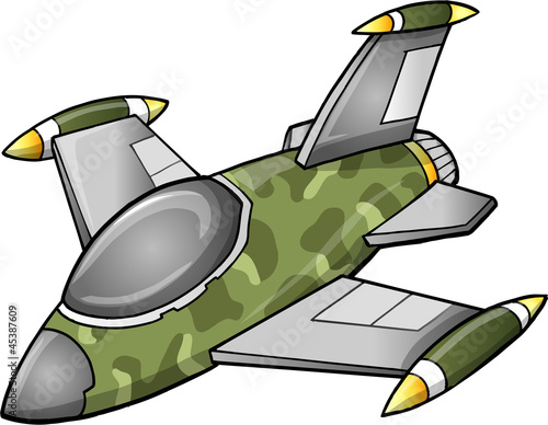 Deurstickers Militair Cute Fighter Jet Aircraft