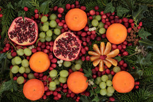 Christmas Fruit And Flora
