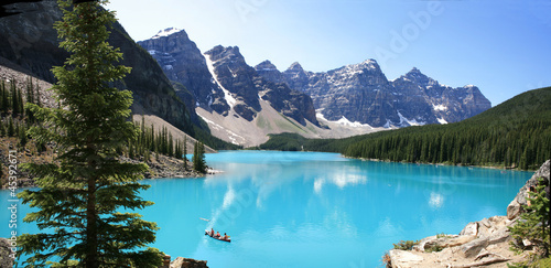 In de dag Canada Moraine lake
