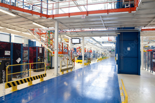 Staande foto Industrial geb. industrial building interior