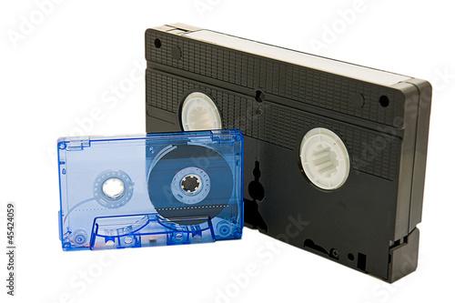 Fotografia, Obraz  videotape on white background