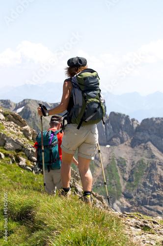 Fototapeta Wanderer im Alpstein - Alpen - Schweiz obraz na płótnie
