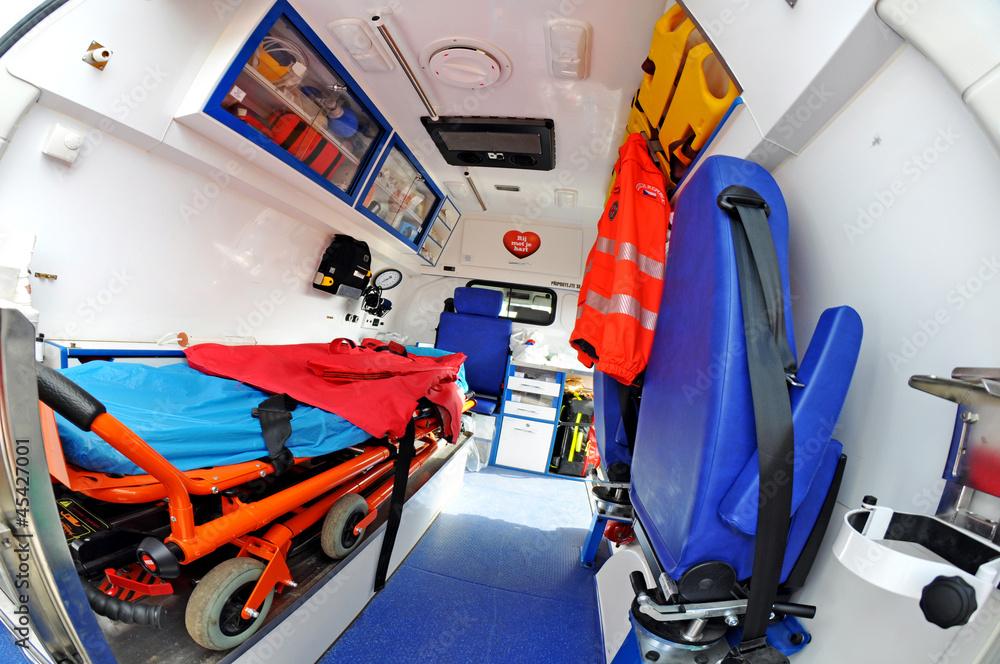 Fototapeta ambulance inside