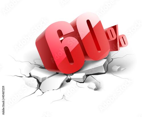 Fotografía 60 percent discount icon