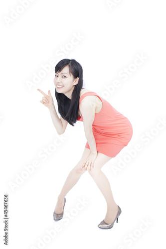Fotografie, Obraz  指差す女性