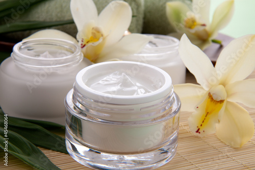 Fotografie, Obraz  Orchid and Face Cream