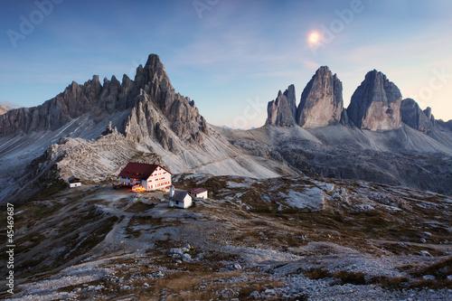 Recess Fitting Gray traffic Tre Cime di Lavaredo - Dolomite Alps - Italy Europe