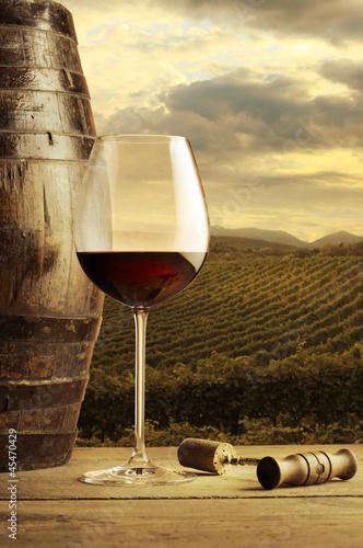 Papiers peints Vignoble Red wine glass