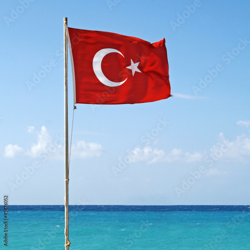 Photo  National flag of Turkey