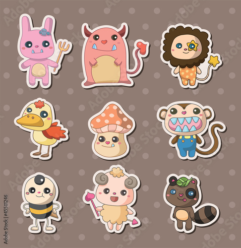 Poster Creatures monster stickers