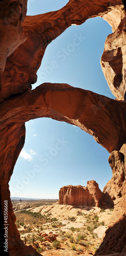 Keuken foto achterwand Rood paars Arches national park