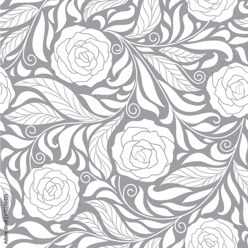 Papiers peints Artificiel seamless background with roses
