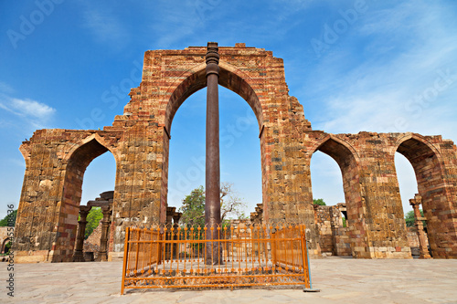 Stickers pour porte Delhi Iron Pillar, India