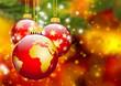 Christbaumschmuck, Erde, Kugel, Weltkugel, abstrakt, Weihnachten