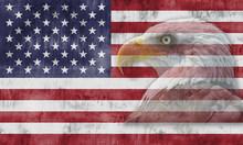 Bandera Americana Con El águl...