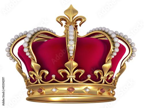 Gold crown Tableau sur Toile