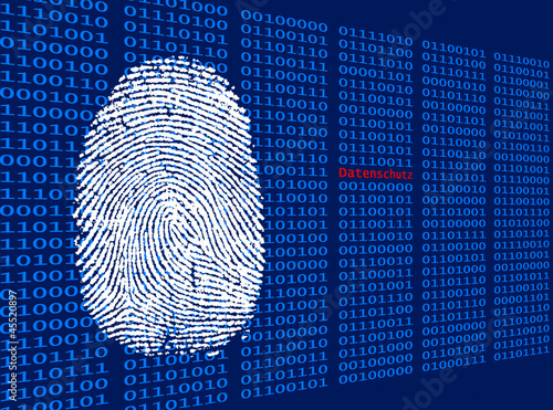 Digitaler Fingerabdruck - Datenschutz Wallpaper Mural