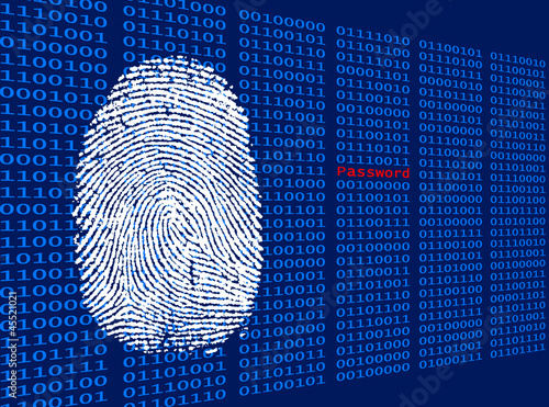 Photo Digitaler Fingerabdruck - Password