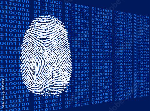 Digitaler Fingerabdruck schräg Wallpaper Mural