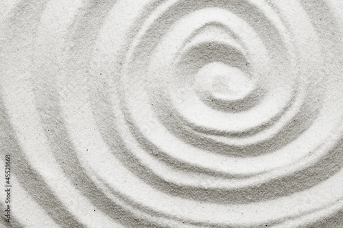 Printed kitchen splashbacks Zen Spiral in the sand