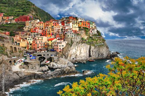 scenic Italy. Monarolla village, Cinque terre Poster