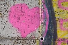 Pink Heart Graffiti