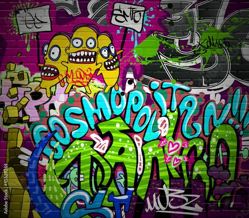 plakat Graffiti mur miejski sztuka tło. Grunge design hip hop