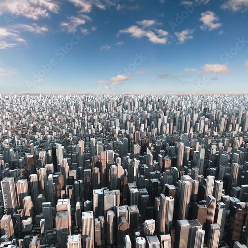Fototapeta widok na miasto 3d