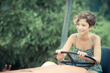 Little Girl On The Tractor