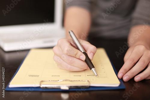 Fototapeta Formular ausfüllen obraz