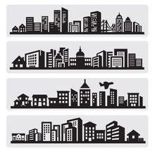 Cities Silhouette Icon