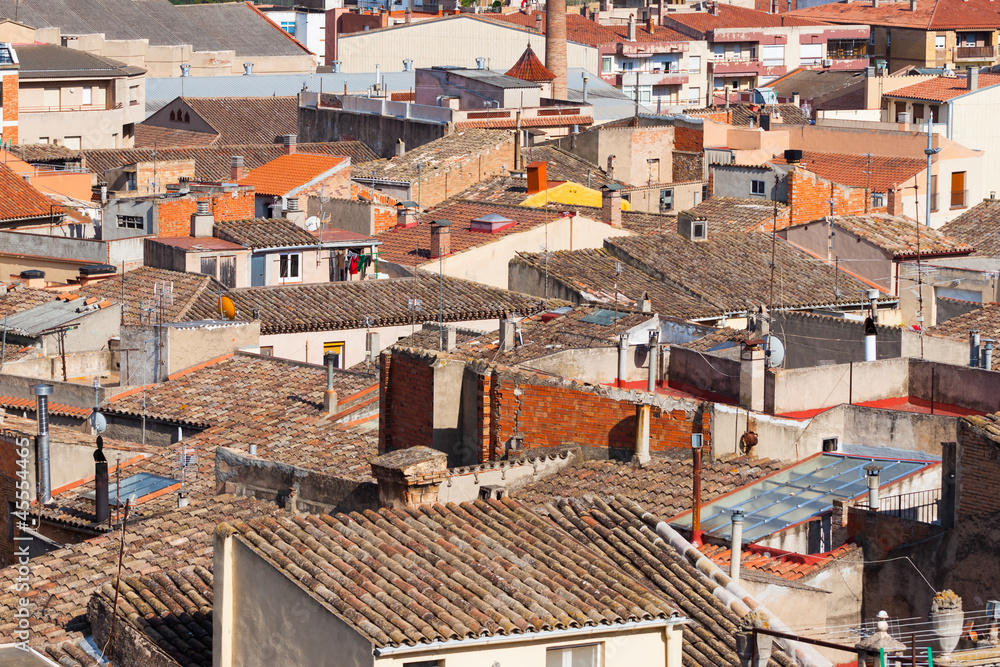 City view of buildings in Spain