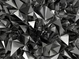 Tło z czarnymi kryształami- abstrakcja