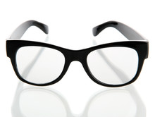 Black Glasses, Isolated On White