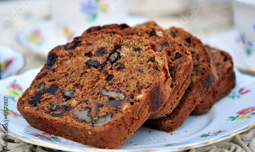Fotografie, Obraz  walnut and date loaf cake
