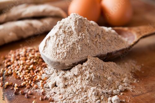 Obraz na plátne Buckwheat flour