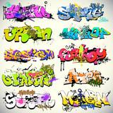 Fototapeta Młodzieżowe - Graffiti wall vector urban art