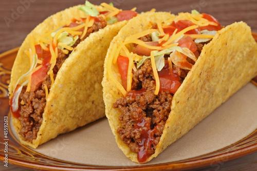 Fotografie, Obraz  Beef Tacos