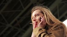 Girl Talking And Smoking