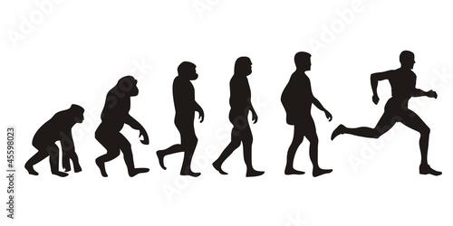 Fotografia, Obraz  Vom Affen zum Läufer (Menschen)