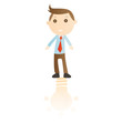 Businessman with idea on white background