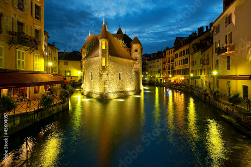 Annecy at night Wallpaper Mural