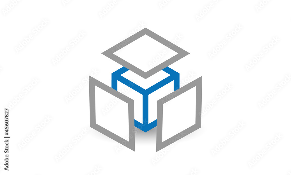 Fototapeta Concept cube 360