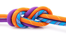 Eight  Rope Knot Isolated On W...