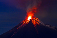 Long Exposure, Tungurahua Volc...