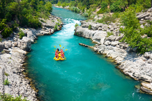 rafting in the green canyon, Alanya, Turkey Canvas Print