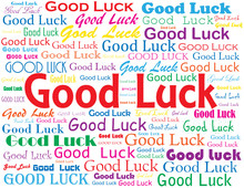 """GOOD LUCK"" Card (best Wishes ..."