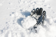 Avalanche Victim - Glove Buried In Snow